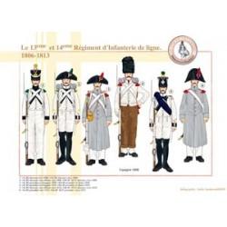 Das 13. und 14. Linien Infanterieregiment, 1806-1813