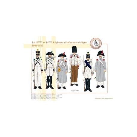 Le 13ème et 14ème Régiment d'Infanterie de ligne, 1806-1813