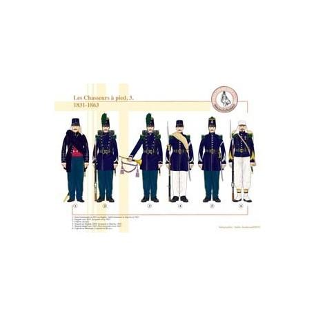 Les Chasseurs à pied (3), 1831-1863