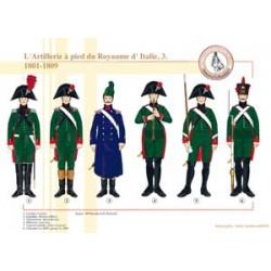L'Artillerie à pied du Royaume d'Italie (3), 1801-1809