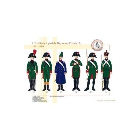 Foot Artillery of the Kingdom of Italy (3), 1801-1809