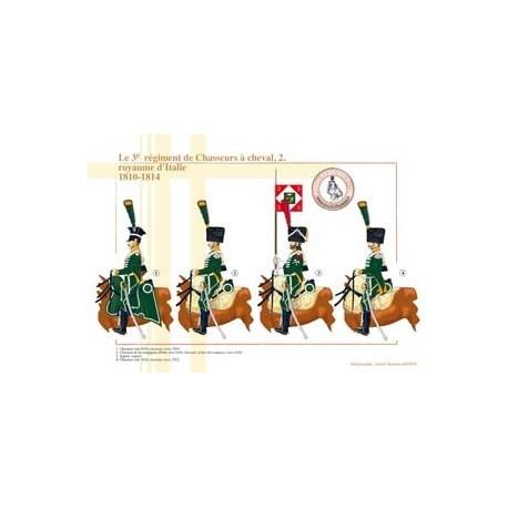 Le 3e régiment de Chasseurs à cheval (2), royaume d'Italie, 1810-1814
