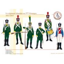 Das Irische Regiment oder das 3. Ausländische Regiment, 1813-1815