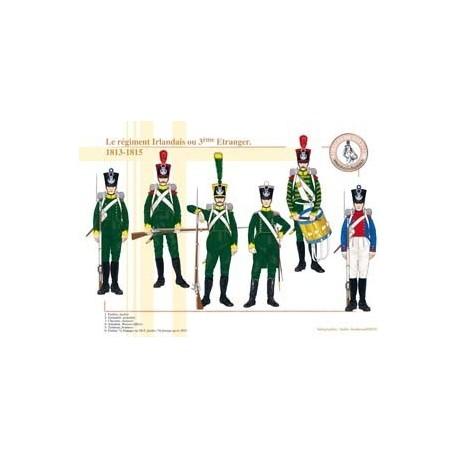 Le régiment Irlandais ou 3ème Etranger, 1813-1815