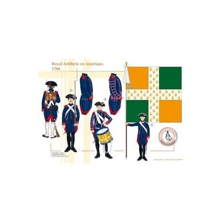 Königliche Artillerie in Amerika, 1780