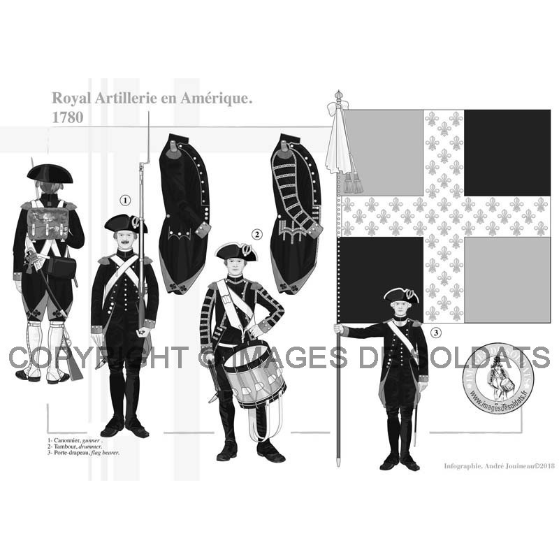 k nigliche artillerie in amerika 1780. Black Bedroom Furniture Sets. Home Design Ideas