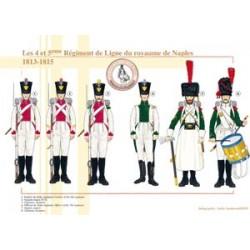 Das 4. und 5. Linienregiment des Königreichs Neapel, 1813-1815