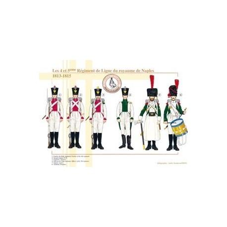 Les 4 et 5ème Régiment de Ligne du royaume de Naples, 1813-1815