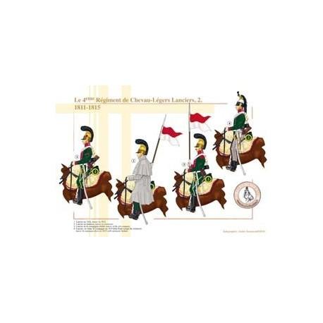 Le 4ème Régiment de Chevau-Légers Lanciers (2), 1811-1815