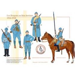 Französische Drachen im blauen Horizont, 1916-1918