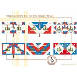 French Infantry Flags Model 1794 Half Brigades 31-36