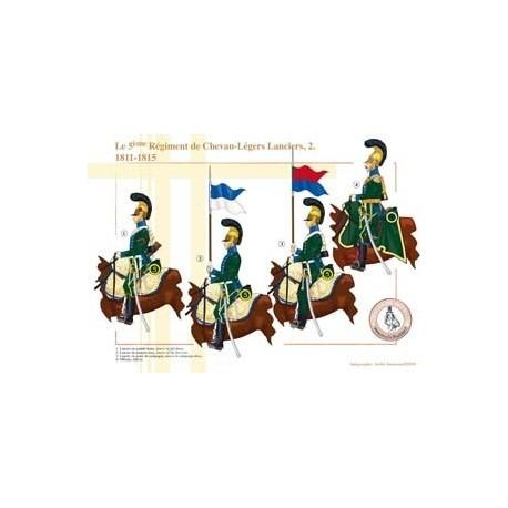 The 5nd Regiment of Chevau-Légers Lanciers (2), 1811-1815