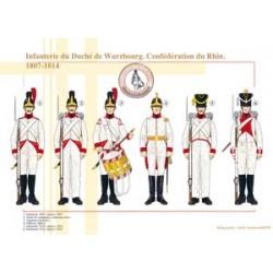 Infanterie du Duché de Wurzbourg, Confédération du Rhin, 1807-1814