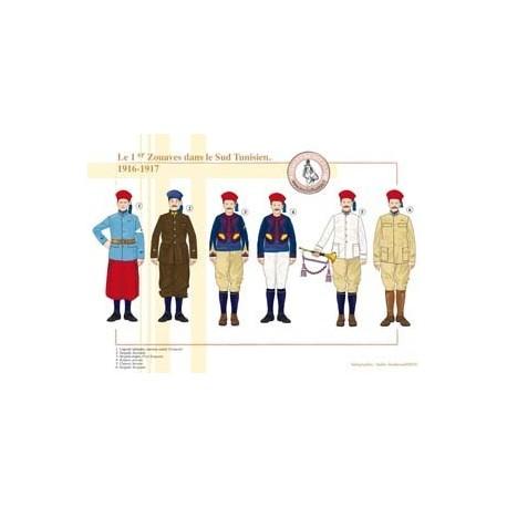 Das 1. Zuaven-Regiment in Süd-Tunesien, 1916-1917