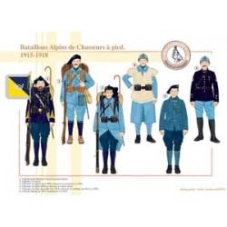 Alpenbataillone der französischen Fußjäger, 1915-1918