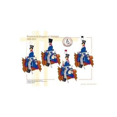 Dragons Regiment No. 1 Königin, 1808-1813