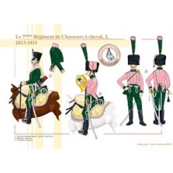 The 7th Regiment of Chasseurs à cheval (2), 1813-1815