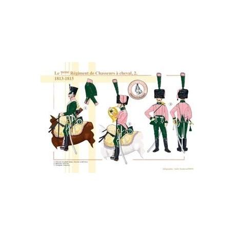 Le 7ème Régiment de Chasseurs à cheval (2), 1813-1815
