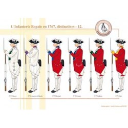 L'Infanterie Royale en 1767, distinctives (12)