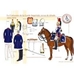 Le Cuirassier de la Garde Impériale, revue de détails, 1854-1870