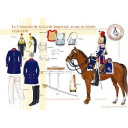 The Cuirassier of the French Imperial Guard, review of details, 1854-1870