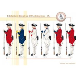 L'Infanterie Royale en 1767, distinctives (13)