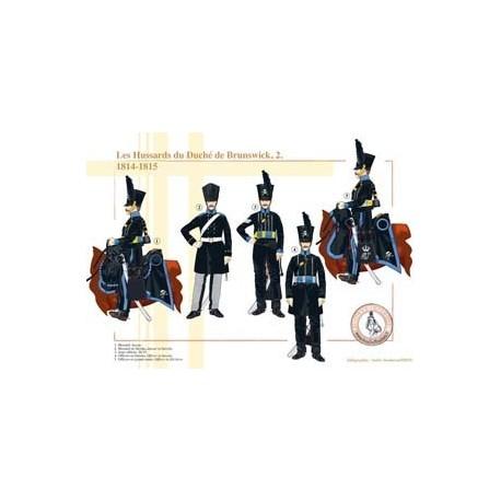 Les Hussards du Duché de Brunswick (2), 1814-1815