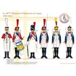 Das 30. Linieninfanterieregiment, 1809-1812