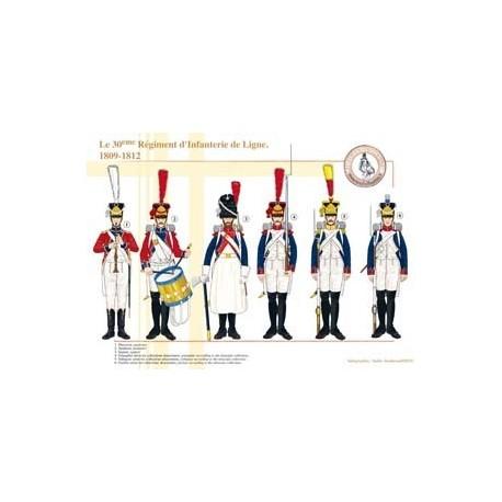 Le 30ème Régiment d'Infanterie de Ligne, 1809-1812