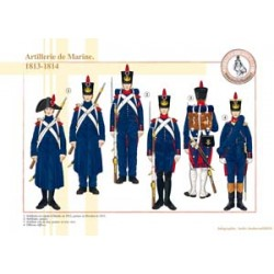 Artillerie de Marine, 1813-1814