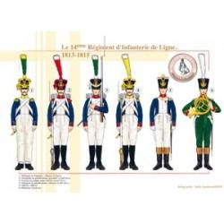Das 14. französische Infanterieregiment der Linie, 1813-1815