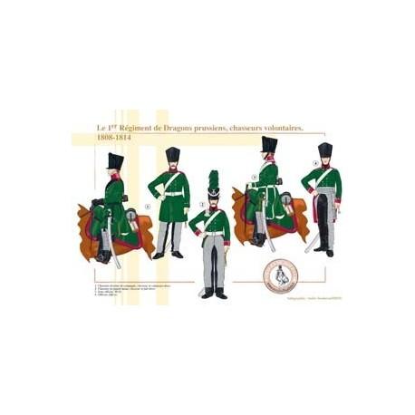 Le 1er Régiment de Dragons prussiens, chasseurs volontaires, 1808-1814