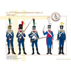 The 27th French Regiment of Light Infantry (2), 1809-1815