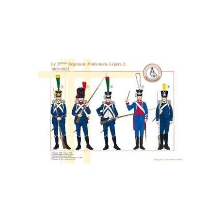 Le 27ème Régiment d'Infanterie Légère (2), 1809-1815