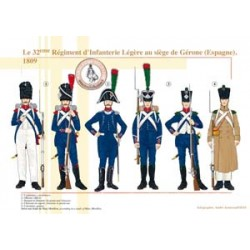 The 32nd French Regiment of Light Infantry at the headquarters of Girona (Spain), 1809
