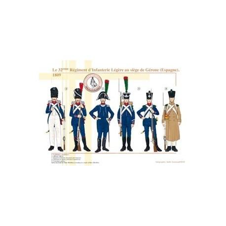 Le 32ème Régiment d'Infanterie Légère au siège de Gérone (Espagne), 1809