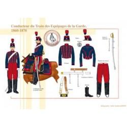Französischer kaiserlicher Garde-Mannschafts-Zugfahrer, 1860-1870
