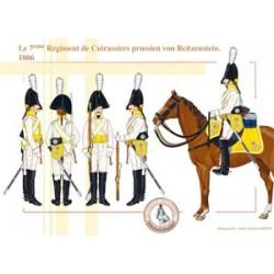 Le 7ème Régiment de Cuirassiers prussien von Reitzenstein, 1806