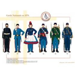 Französisch National Guard im Jahr 1870