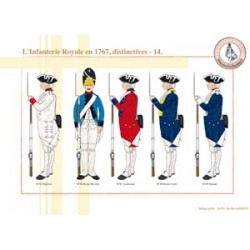 L'Infanterie Royale en 1767, distinctives (14)