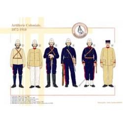 Französische Kolonialartillerie, 1872-1910