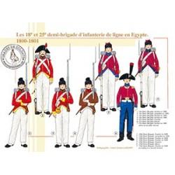 Les 18e et 25e demi-brigades d'infanterie de ligne en Egypte, 1800-1801