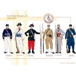Les Franc-Tireurs (23), 1870-1871