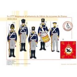 Le 2ème Régiment d'infanterie de Silésie du royaume de Prusse, 1810-1814