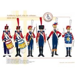 Artillerie zu Fuß, Säulenkopf, 1810-1812