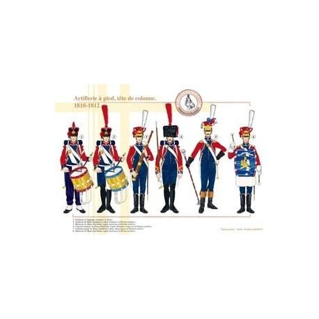 Artillerie à pied, tête de colonne, 1810-1812