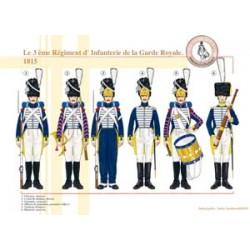 Das 3. Infanterieregiment der französischen königlichen Garde, 1815