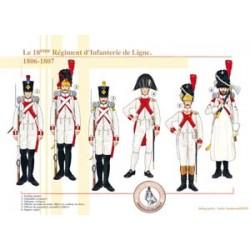 Das 18. französische Infanterie-Regiment der Linie, 1806-1807