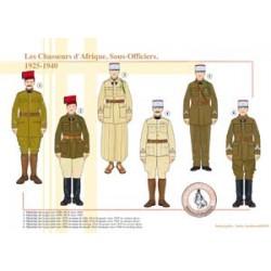 Die afrikanischen Jäger, Unteroffiziere, 1925-1940