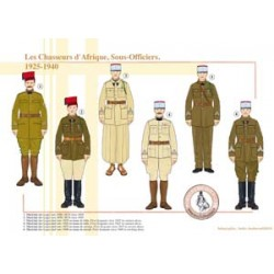Les Chasseurs d'Afrique, Sous-Officiers, 1925-1940